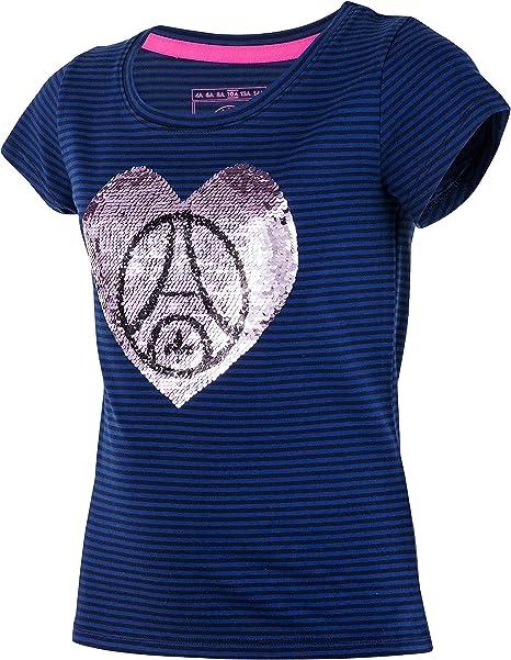 Paris Saint Germain - Camiseta oficial para niña, talla infantil, Niños, azul, 8 años: Amazon.es: Ropa y accesorios