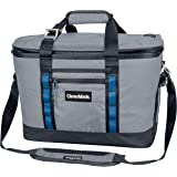 CleverMade Maverick Collapsible Cooler Bag - 50 Can Insulated Leakproof Soft Sided Beverage Tote with Shoulder Strap, Bottle Opener and Storage Pockets, Grey, Large, One Size, Model:8011-3915-00111PK