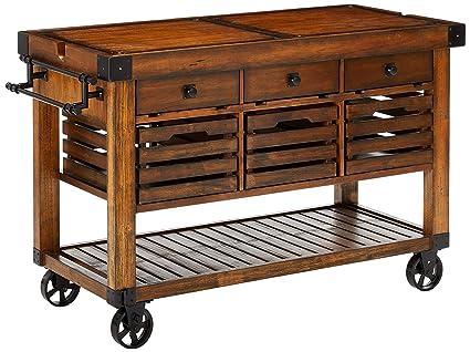 Kitchen island cart industrial Vintage Image Unavailable Amazoncom Amazoncom Majorq 52