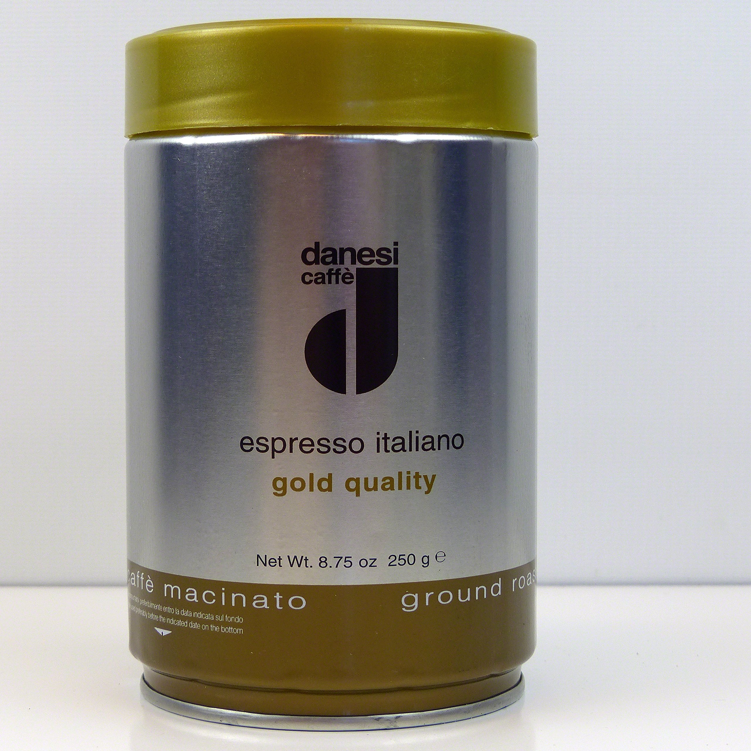 Danesi Cafe Gold Tin Ground Espresso Coffee (12 x 8.8 oz tins)