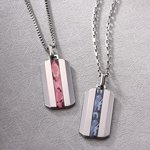 Amazon caperci pink camo inlay tungsten pendant necklace for amazon caperci pink camo inlay tungsten pendant necklace for men free two chains 18 22 inches jewelry aloadofball Choice Image