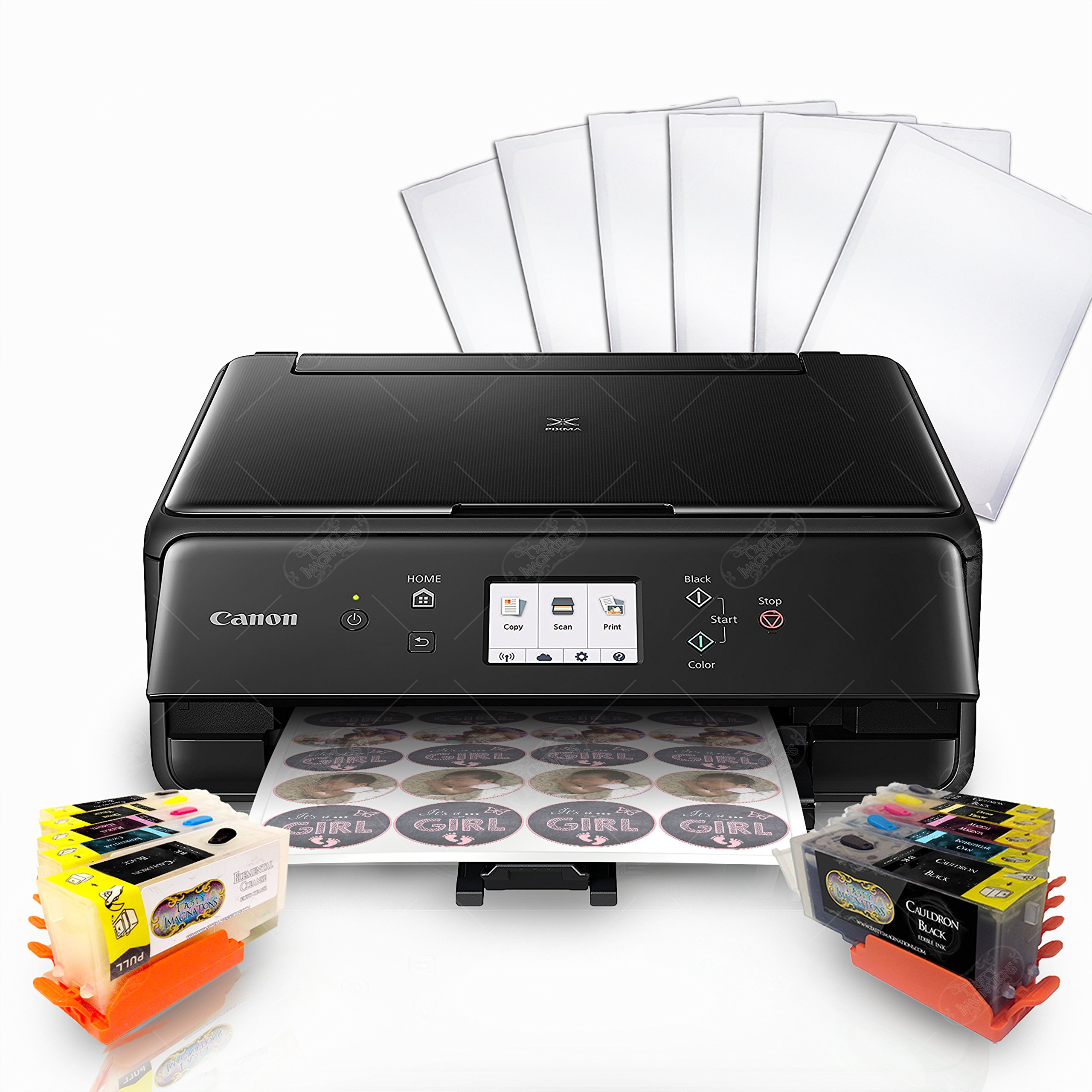 Edible Printer Bundle for Canon - Comes with Edible Ink Cartridges & Frosting Sheets - Apprentice Package