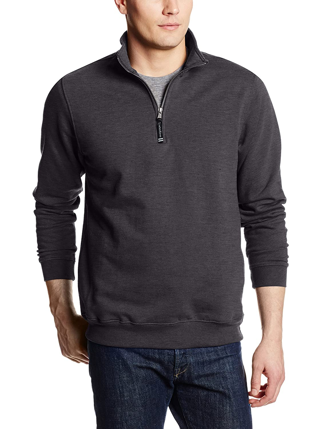 Charles River Apparel Men's Crosswind Quarter Zip Sweatshirt 9359