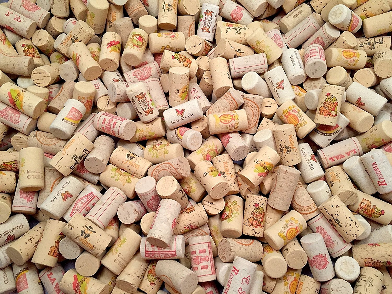 COLOR Wine Corks | Brand New, Authentic, All Natural | Printed, Winery-Marked, Craft Grade | Uncirculated, Uniform & Clean | Excellent for Crafting & Decor | Pack of 25/50/100 Premium Wine Cork (50) by Omni Trading Worldwide (Image #1)