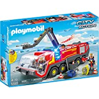 Deals on PLAYMOBIL Airport Fire Engine with Lights & Sound Building Set