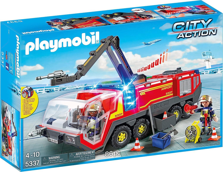 PLAYMOBIL City Action Camión Bomberos Aeropuerto, a Partir de 4 Años (5337)