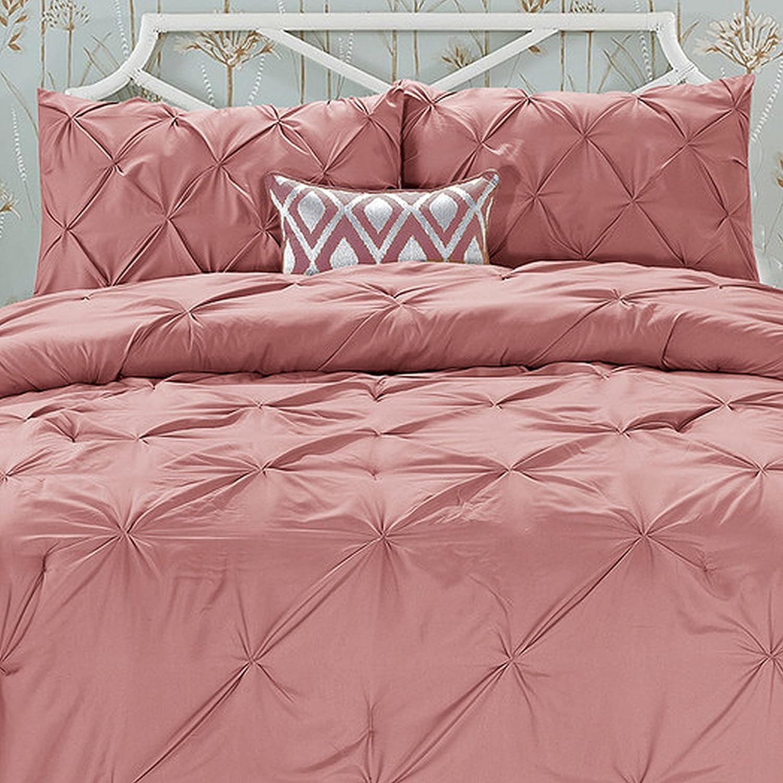 All Season Luxury Silky Soft Pintuck 3-Piece Comforter Set