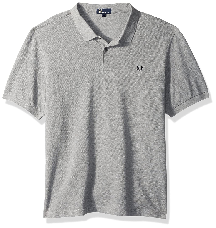 Steel Marl Fred Perry Men's Men's Men's Plain Shirt 21612a