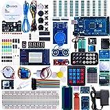 Elegoo Mega 2560 Project El kit completo de arranque más completo con PDF Tutorial, controlador MEGA 2560, LCD1602, servo, motor paso a paso para Arduino Mega2560 Nano Arduino Kit