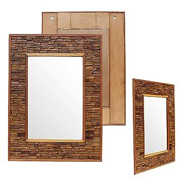 Badspiegel Holz Wandspiegel Holzspiegel Spiegel Holzrahmen Rahmen