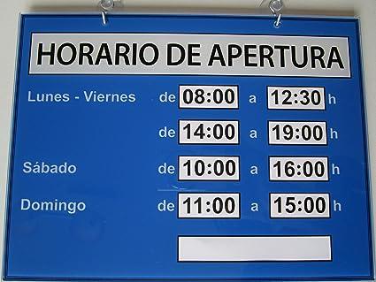 Horario de apertura Plexiglás XT - Color Azul - Novedad mundial de