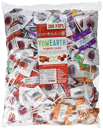 YumEarth Organic Natural Lollipops, 5 Pound Bag