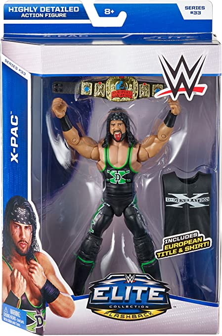 WWE Mattel Elite Shiny European Championship for Wrestling Figures SHAWN XPAC