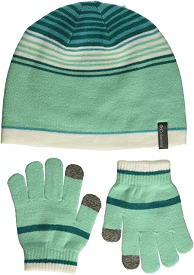cb009113 Amazon.com: Columbia Kids & Baby Little Hat and Glove Set, Pixie ...