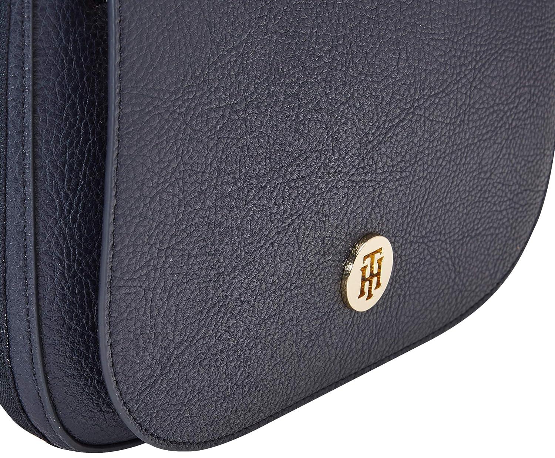 Tommy Hilfiger Th Core Saddle Bag Corp , Sacs bandouli/ère femme Corporate Blanc