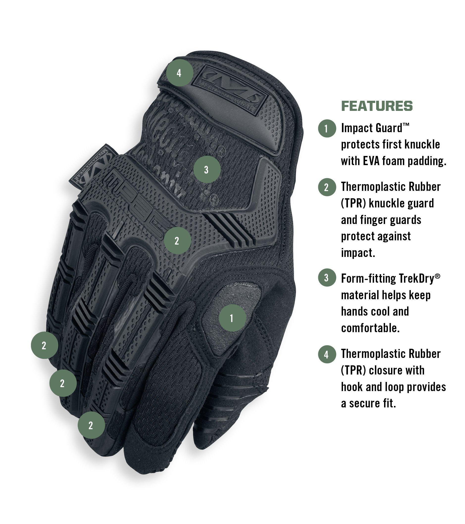 Mechanix Wear - M-Pact Covert Tactical Gloves (Large, Black) by Mechanix Wear (Image #2)