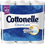 Cottonelle CleanCare Family Roll + Toilet Paper, Bath Tissue, 36 Toilet Paper Rolls