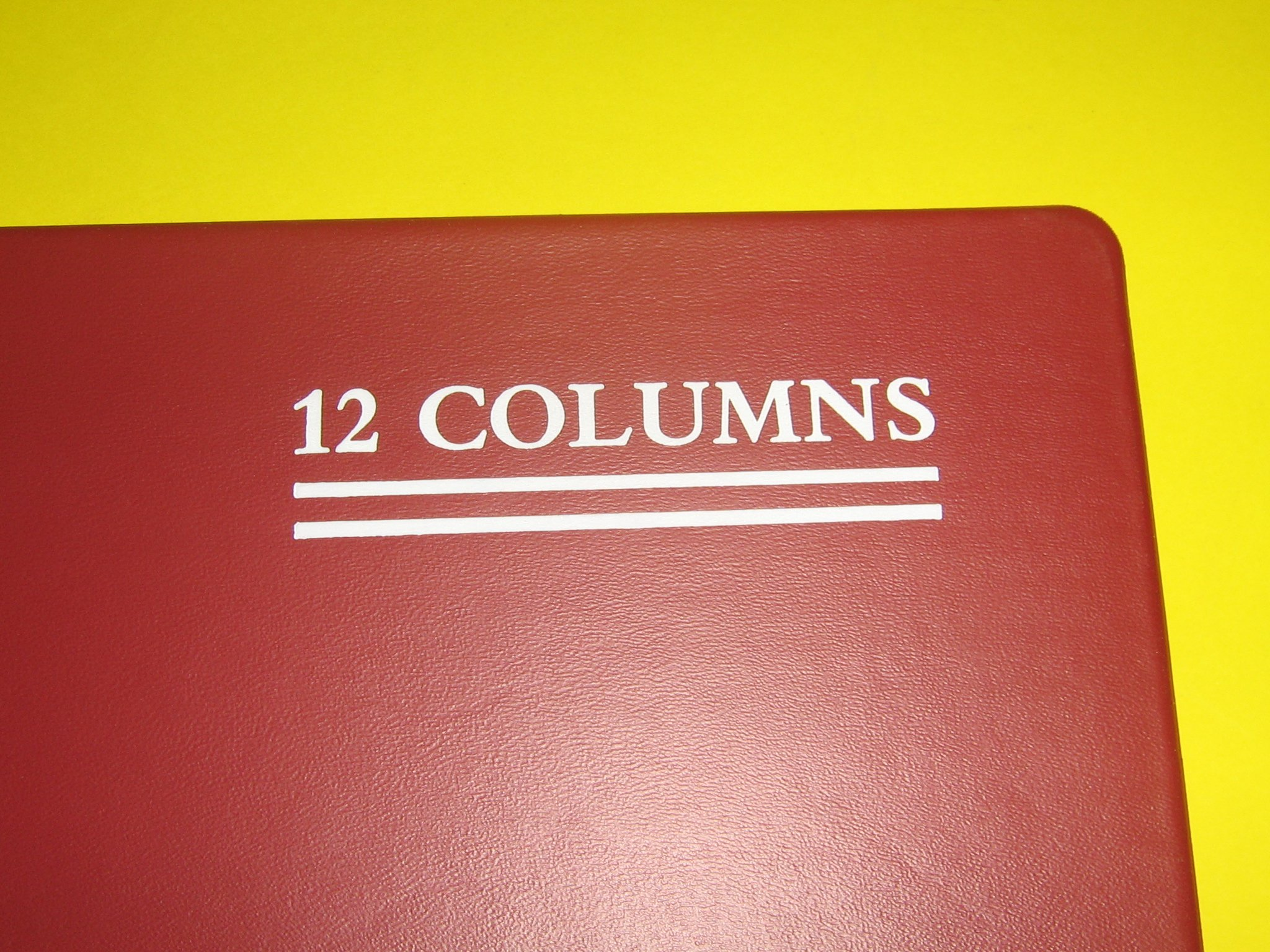 National Columnar Books #58-512 Series, 12 Column, Red Cover, 150 Pages, 8'' (W) x 10 1/4'' (L)
