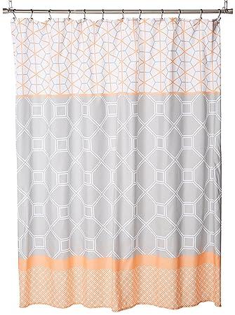 Amazoncom Intelligent Design Shower Curtain Orange72x72 Home