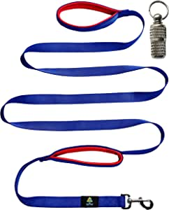 QOL TOP Dog Leash 2 Handles Dog Training Leash-Extra Long 8ft Lead-Dual Padded Handles for Medium Dog or Large Dog-Heavy Duty-Pet Supplies for Dog Leashes