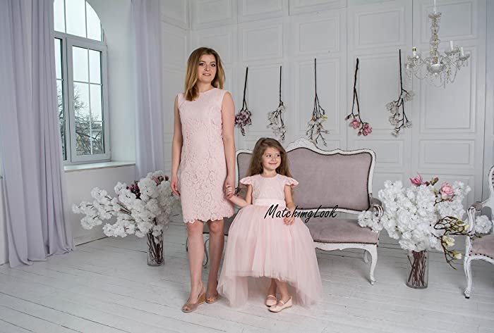 e608da7874 Amazon.com: Pink Blush Mother daughter matching dress dresses outfits,  Mommy and Me dresses, girl birthday dress Mommy and Me outfits Matching  dress: ...