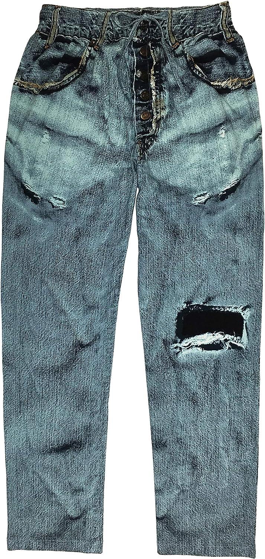 Blue Paul Frank Mens Faux Denim Pant XX-Large
