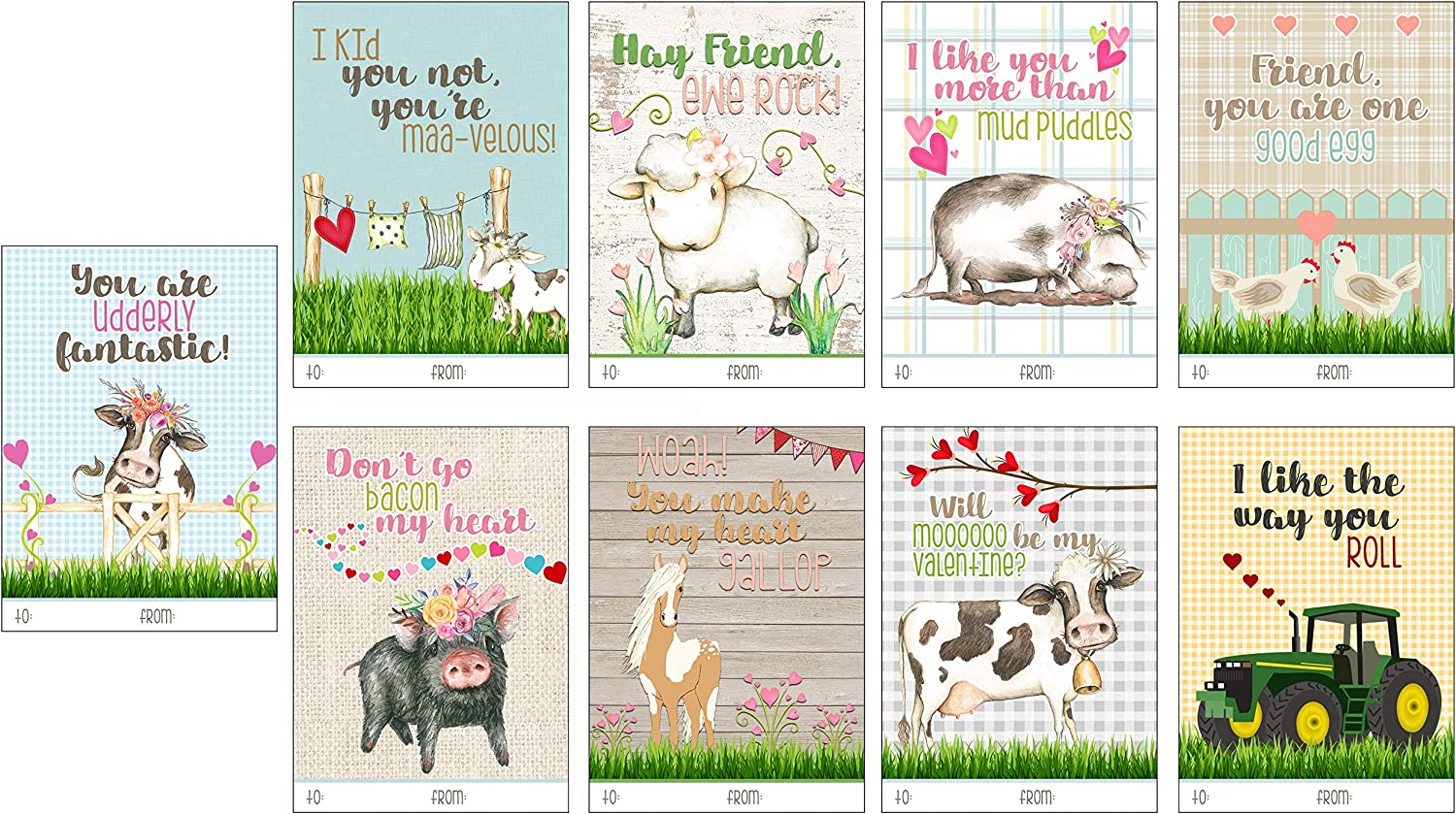 Farm Animals  Place Cards Set of 24