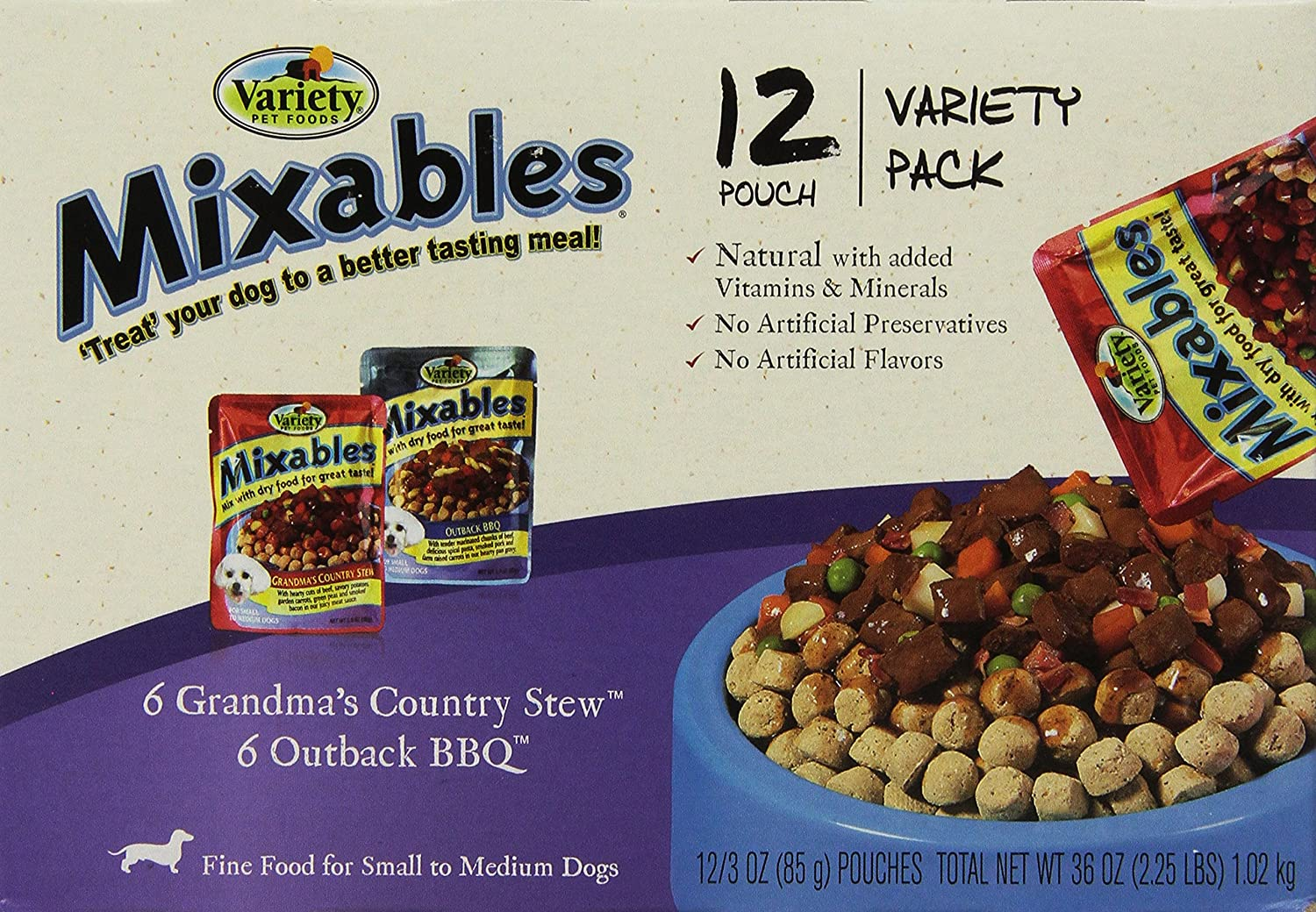 Variety 00077 123 ounce mixables beef lovers natural dog food variety 00077 123 ounce mixables beef lovers natural dog food includes 6 grandmas country stew and 6 outback bbq 2 pack pet food pet supplies amazon forumfinder Image collections