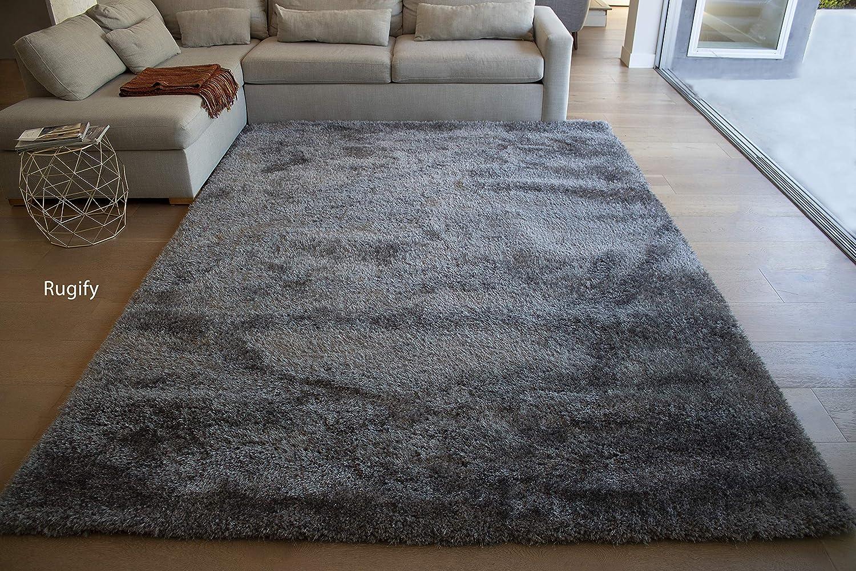 Amazon com la rug linens brand epic model 8x10 feet area rug dark gray grey color 1 per pack home kitchen