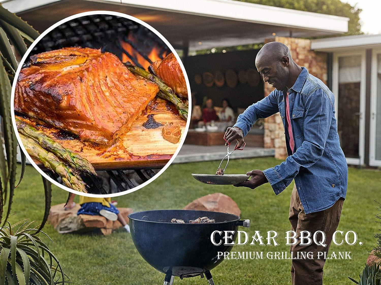 "Cedar BBQ Premium Cedar Grilling Planks - 2 Piece Set - 5.5"" x 15"" - Western Red Cedar - Perfect Smoky Cedar Flavor : Garden & Outdoor"