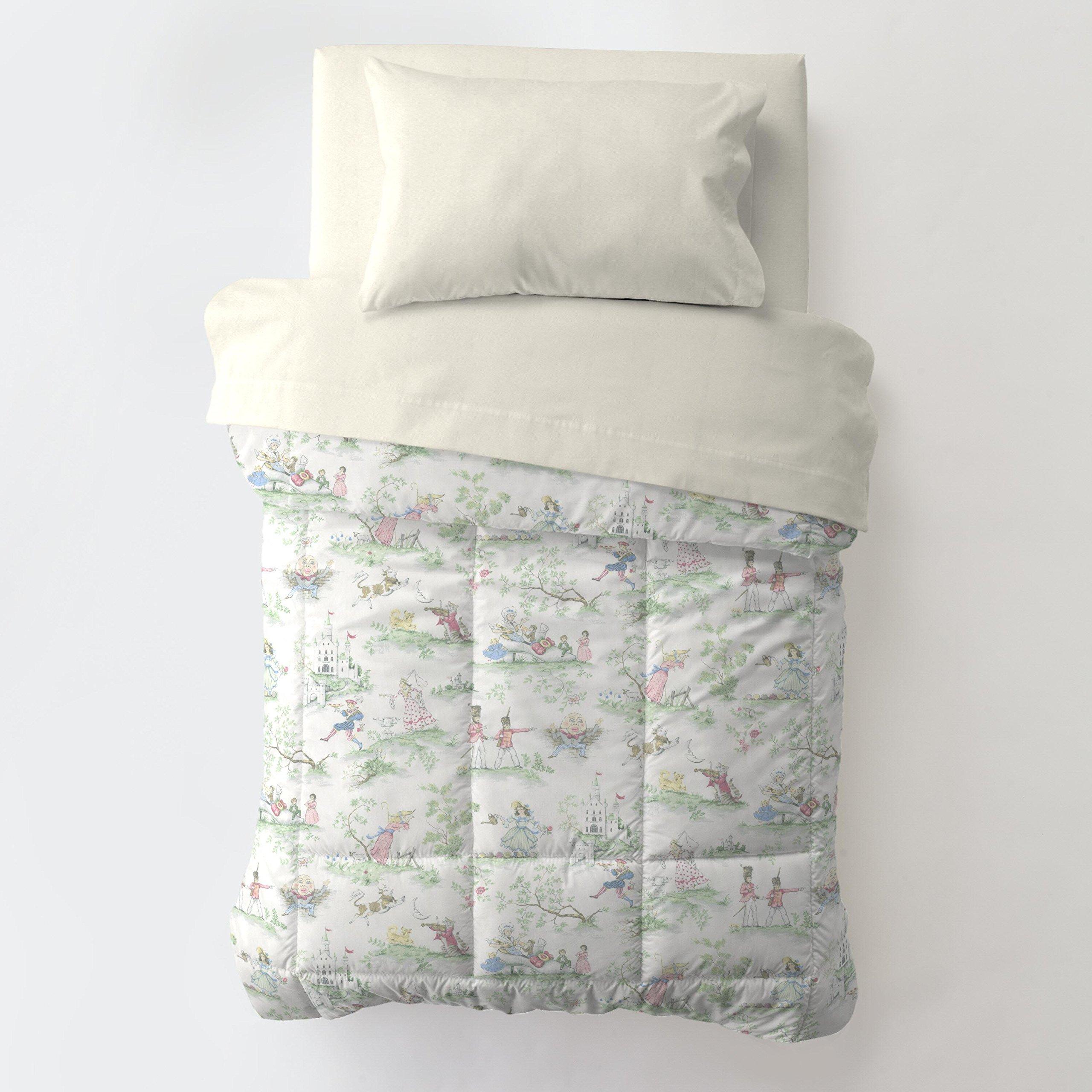 Carousel Designs Nursery Rhyme Toile Toddler Bed Comforter