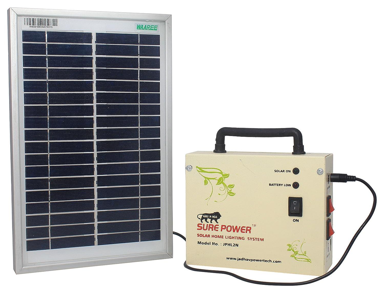 Sure Power Solar Home Lighting System (White, 15 cm x 5 cm x 12.5 cm ...