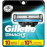Gillette Mach3 Men's Razor Blade Refills, 10 Count (packaging may vary), Mens Razors / Blades
