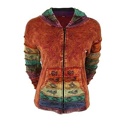 Sunshine Daydream Hooded Jacket (3X, Rust): Clothing