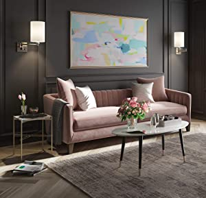 Elle Decor FUTB10061B Clemintine Coffee Table, Marble
