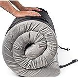 Zermätte Roll Up Mattress   Ultralight Memory Foam Camping Mattress Sleeping Pad Folding Mat Cot Topper w/Waterproof…