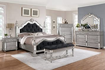 best quality furniture b810ck5pcsetchest ck bedroom set gray - Grey Bedroom Set
