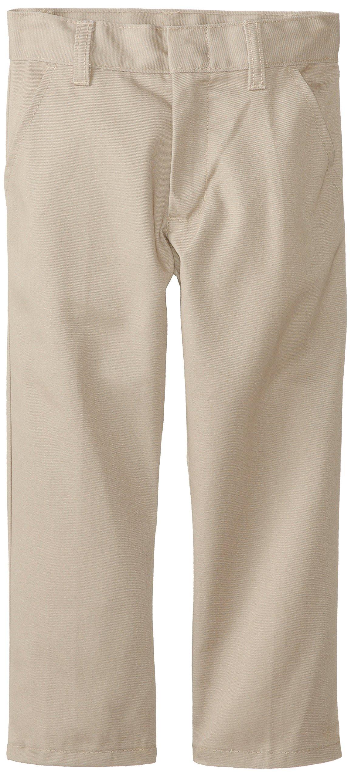 Genuine School Uniform Boys Twill Pant (More Styles Available), Basic Khaki, 5