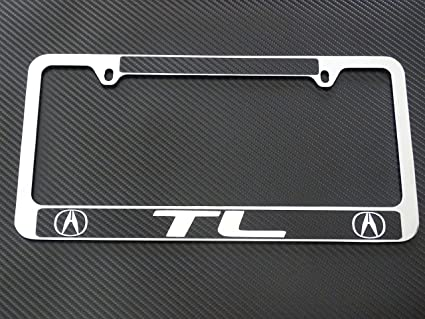 Amazoncom AtoZCustoms Acura Tl License Plate Frame Chrome Metal - Acura tl license plate frame