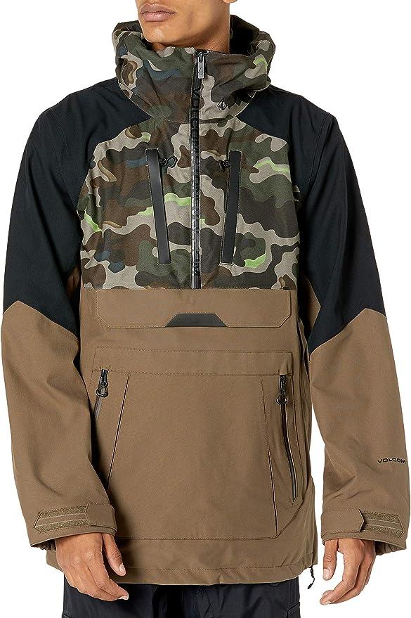 Volcom Mens Brighton Pullover 2-Layer Snow Jacket Grey S
