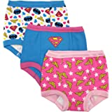 Justice League Toddler girl 3-Pack or 7-Pack Potty Training Pants, 18M, 2T, 3T, 4T