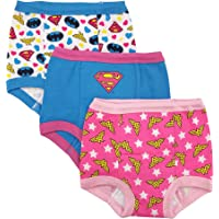 DC Comics Toddler Girls' Justice League 3 Pack Training Pant