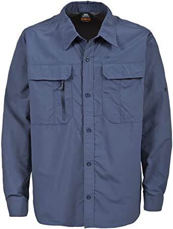 Trespass Bonar, Airforce Blue, XXS, Insect Repellent Shirt with UV  Protection & Rollup