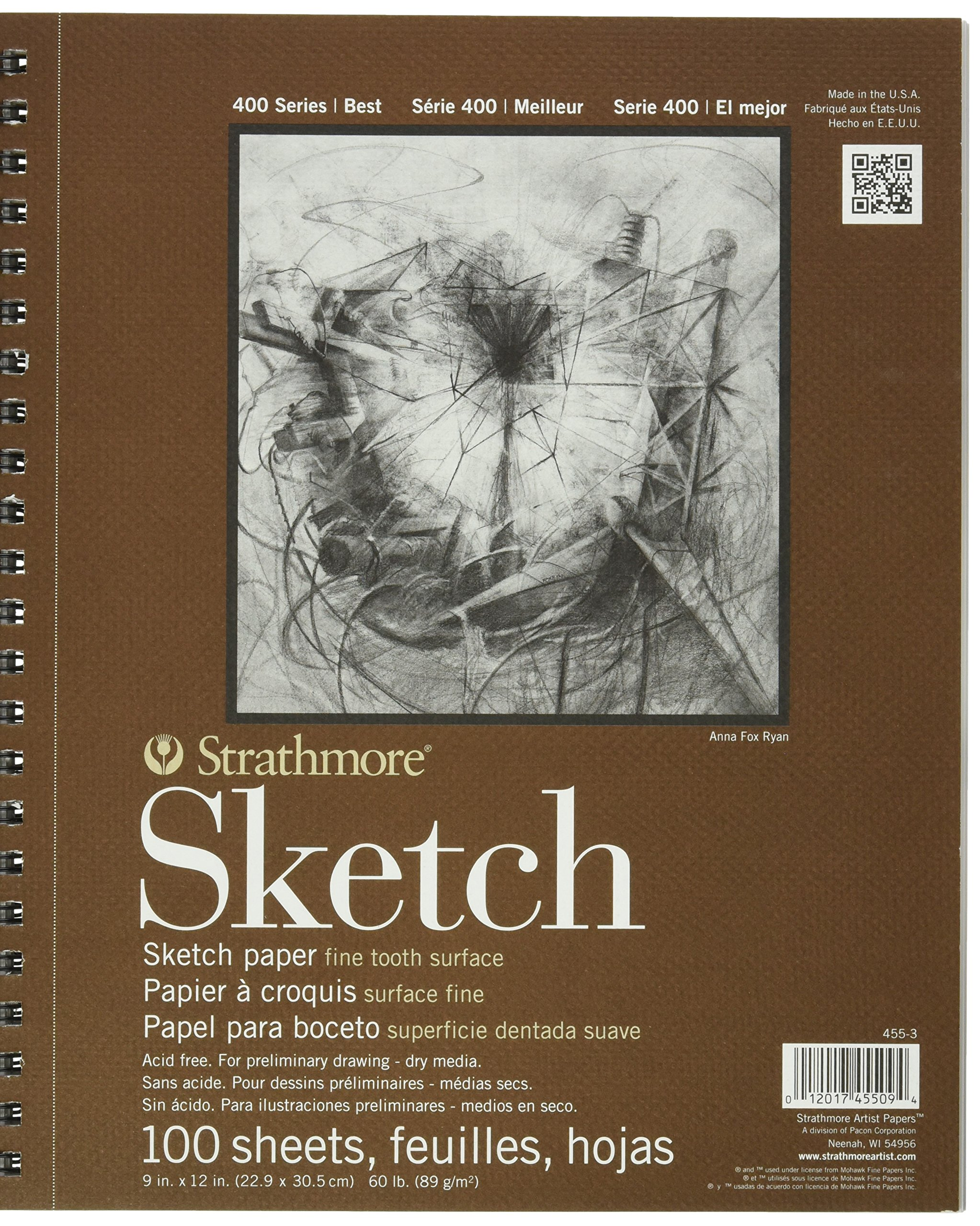 Strathmore ANST455-3X3 455-3 Drawing & Sketch Paper, White by Strathmore