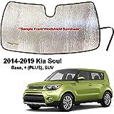 OEM Genuine Windshield UV Sun Shade Deflector w//Logo 14-18 Kia Soul B2072-ADU10
