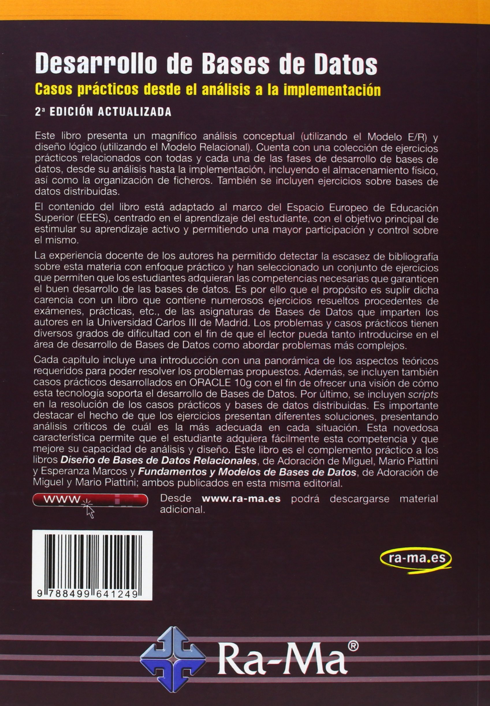 DESARROLLO DE BASES DE DATOS 2\'EDICION ACTUALIZADA GRADOS EEES ...