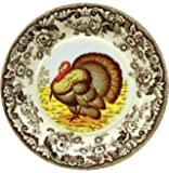 "C.R. Gibson 8 Count Decorative Paper Dinner Plates, Easy Clean Up, Measures 10.5"" - Woodland"