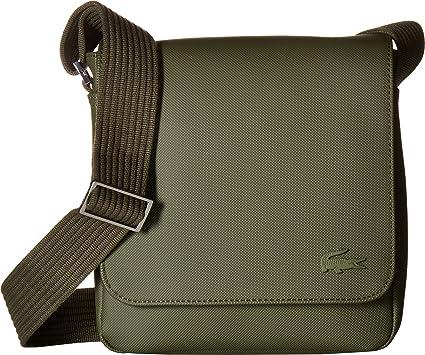 ece915fd2d Amazon.com  Lacoste Mens Small Classic Flap Crossover Bag Grape Leaf ...