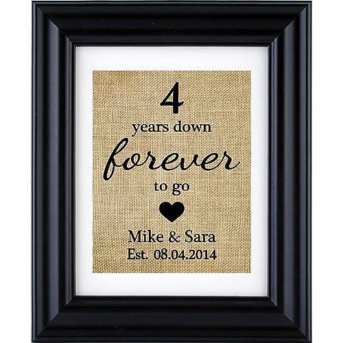 Fourth Wedding Anniversary Gifts Amazon Com