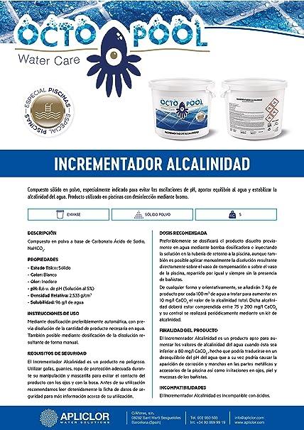 Octopool INCREMENTADOR ALCALINIDAD B-5 KG.